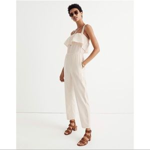 NWT Madewell Apron Ruffle Jumpsuit